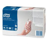Полотенца бумажные листовые мягкие Advanced H2, Z белые 2-х сл., 190л, Tork Xpress 471117