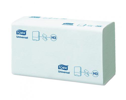 Полотенца бумажные листовые Universal H3, V белые 1 слой 250л Tork 120108