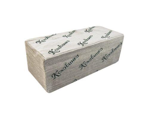 Полотенца бумажные листовые, V серые 1-но сл., 25*23см (170л), Кохавинка