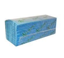 Полотенца бумажные листовые, V синие 1-но сл., 25*23см (200л), Кохавинка