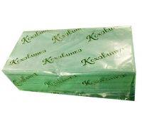 Полотенца бумажные листовые, V зеленые 1-но сл., 25*23см (170л), Кохавинка