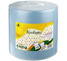 Полотенца бумажные рулон. на гильзе синие (270*280/60), Кохавинка