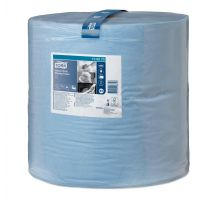 Бумага протирочная рулон. Advanced W1, 2-х сл., голубая (340м), Tork 130070