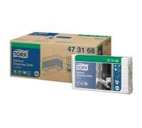 Материал нетканый для кухни в салфетках W4 белый, Tork 473168