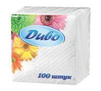 Салфетки бумажные,1 сл., 240*240, белые (100 шт/уп), ДИВО 1618