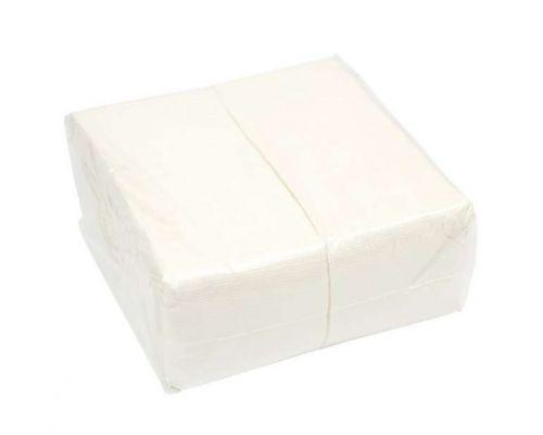 Салфетки бумажные белые 1-но сл., 21*21см (500л)