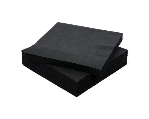 Салфетки бумажные черные 1/8 слож., 2-х сл., 33*33см (100шт/уп), Papero