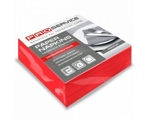 Салфетки бумажные красные 2-х сл., 33*33см (50шт/уп), PROservice Premium