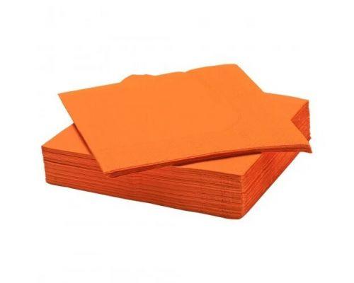 Салфетки бумажные оранж 1/8 слож., 2-х сл., 33*33см (100шт/уп), Papero