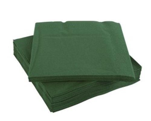 Салфетки бумажные темно-зеленые 1/4 слож., 2-х сл., 33*33см (100шт/уп), Papero