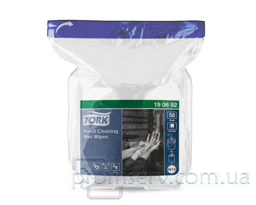 Салфетки влажные запаска к 190592 Premium Professional белые (15,7м), Tork 190692