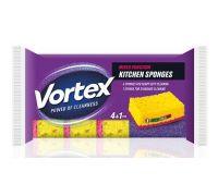 Губка кухонная 3,7*9,6*6,7см (4+1шт), Vortex