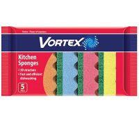 Губка кухонная 3D структура 9,7*6,5*3,6см (5шт), Vortex