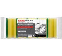Губка кухонная профилированная желтая 10*7*4,5см (5шт), PROservice