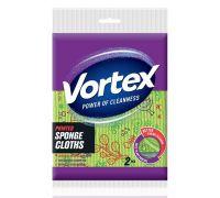 Салфетка целлюлозная универсальная с принтом 20*18см (2шт), Vortex
