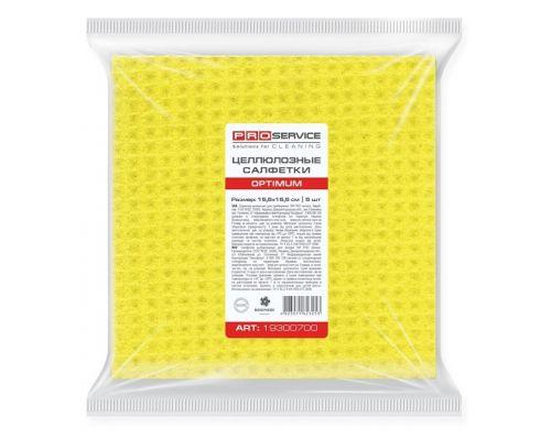 Салфетка целлюлозная универсальная желтая 15,5*15,5см (5шт), OPTIMUM
