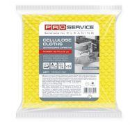 Салфетка целлюлозная универсальная желтая 18*18см (5шт), PROservice