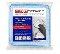 Салфетка микрофибра для стекл 35*35см, 250г/м2 (5шт), PROservice