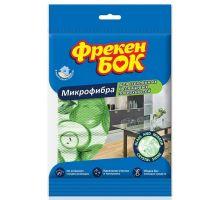 Салфетка микрофибра для стеклянных и глянцевых поверхностей 37*37,5см (1шт), ФБ