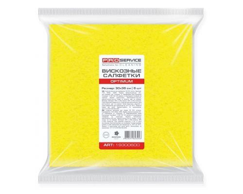 Салфетка вискозная универсальная желтая 30*35см 90г/м2 5шт OPTIMUM