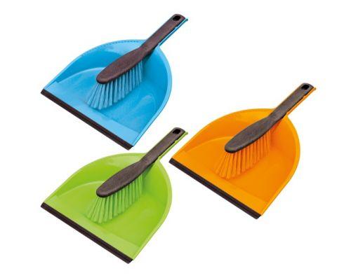 Комплект для уборки КЛИПС CENTI пластик совок + щетка с резинкой York 6204
