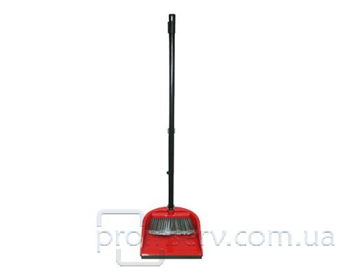 Комплект для уборки PERFEKTA пластик (совок+щетка с резинкой), AGD 1105