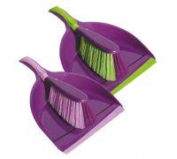 Комплект для уборки PRESTIGE пластик (совок+щетка), York 6207