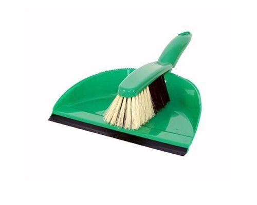 Комплект для уборки YAGA пластик (совок+щетка с резинкой), AGD 1071