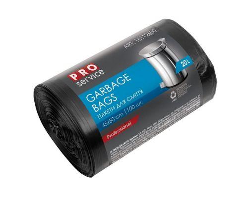 Пакет для мусора черный HD 20л*100шт (45*50 см), PROservice