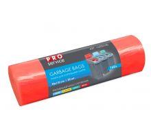 Пакет для мусора красный LD для сортировки металла 160л*20шт (90*110см), PROservice