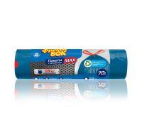 Пакет для мусора с завязками синий LD МАХ суперпрочный 70л*10шт (60*70см), ФБ