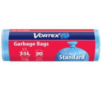 Пакет для мусора синий 35л*20шт (50*60см), Vortex