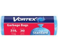 Пакет для мусора синий 35л*30шт (50*60см), Vortex