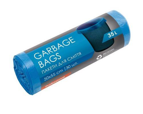 Пакет для мусора синий HD 35л*30шт (50*55см), PROservice