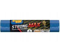 Пакет для мусора синий LD MAX суперпрочный 240л*5шт (120*125см), ФБ