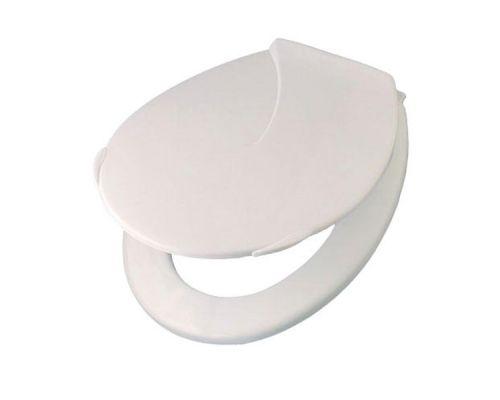 Крышка для унитаза Компакт пластик белая, KRP 15800