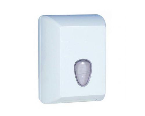Диспенсер листовой туалетной бумаги пластик, белый, Mar Plast 622w-tr