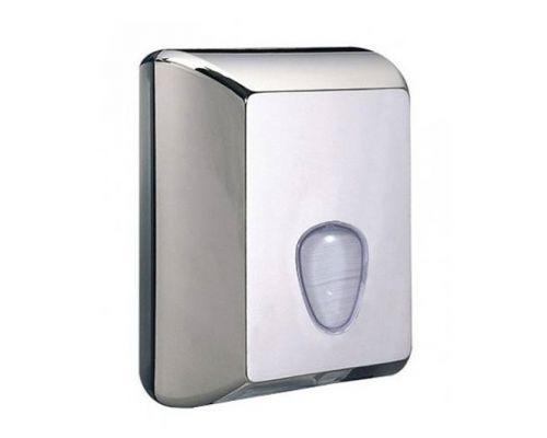 Диспенсер листовой туалетной бумаги пластик, хром, Mar Plast 622с