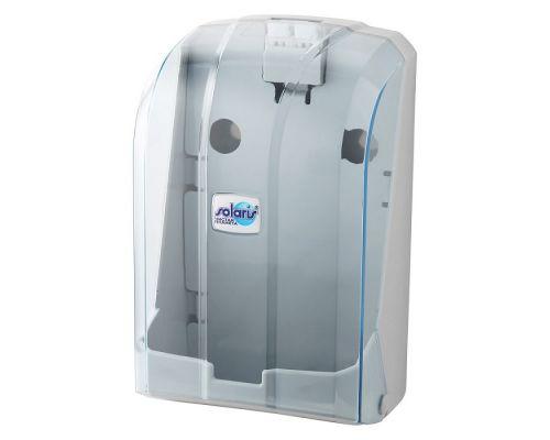 Диспенсер листовой туалетной бумаги пластик прозрачный Vialli K.6-Z-Т