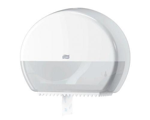 Диспенсер туалетной бумаги на 2 мини рулона Elevation T2, пластик белый, Tork 555000