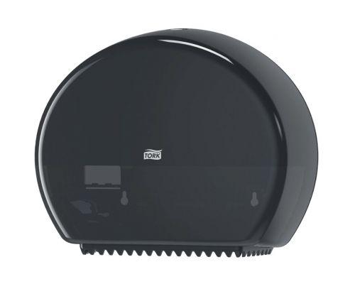 Диспенсер туалетной бумаги на 2 мини рулона Elevation T2, пластик черный, Tork 555008