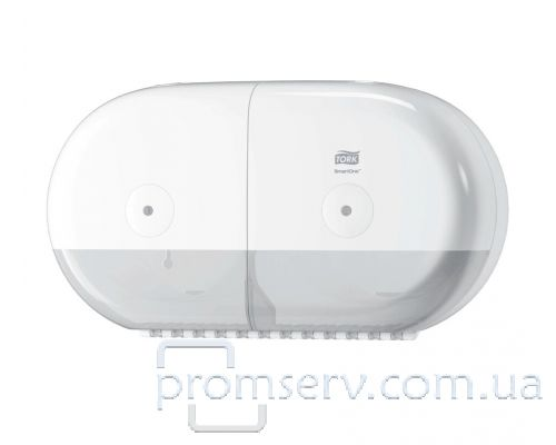 Диспенсер туалетной бумаги на 2 рул. с центр.вытяж. Elevation T9, пластик белый, Tork SmartOne682000