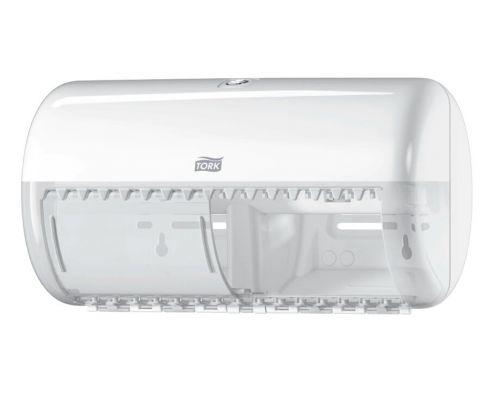Диспенсер туалетной бумаги на 2 рулона Elevation T4, пластик белый, Tork 557000