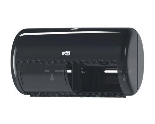 Диспенсер туалетной бумаги на 2 рулона Elevation T4, пластик черный, Tork 557008