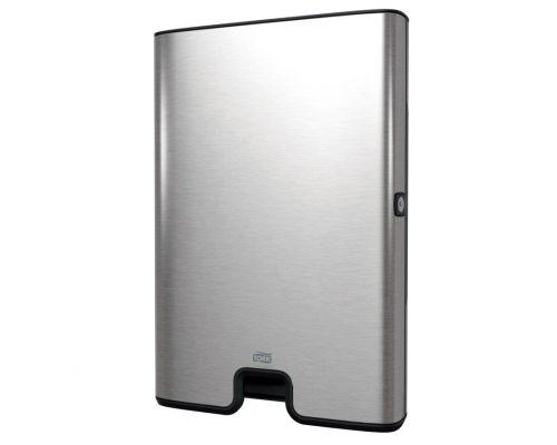 Диспенсер листовых полотенец Image Design H2, Z нерж/пластик металлик, Tork Xpress 460004