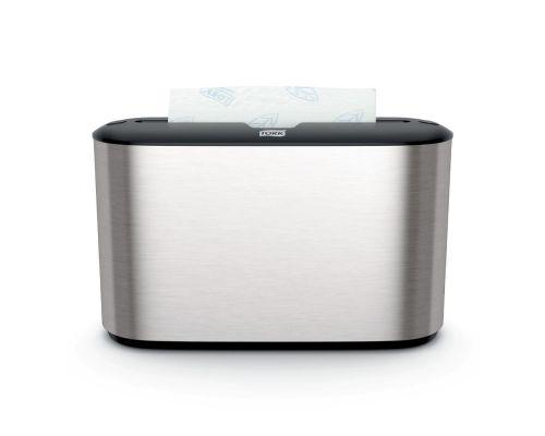 Диспенсер листовых полотенец настольный Image Design H2, Z нерж/пластик металлик, Tork Xpress 460005