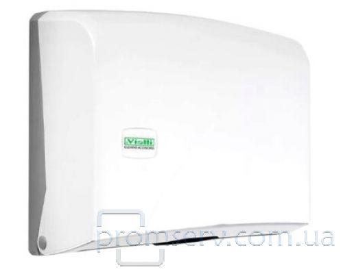 Диспенсер листовых полотенец Z, пластик, белый, Vialli K.1
