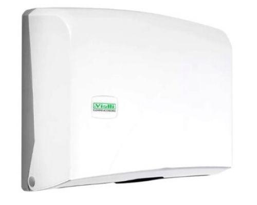Диспенсер листовых полотенец Z, пластик, белый, Vialli K.2
