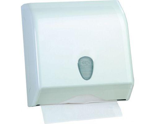 Диспенсер листовых полотенец Z, V пластик, белый, Mar Plast 695