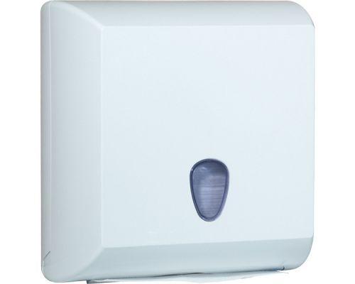 Диспенсер листовых полотенец Z, V пластик, белый, Mar Plast 708